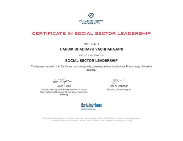 Certificate in Social Sector Leadership from Berkeley Hass | Dr ...